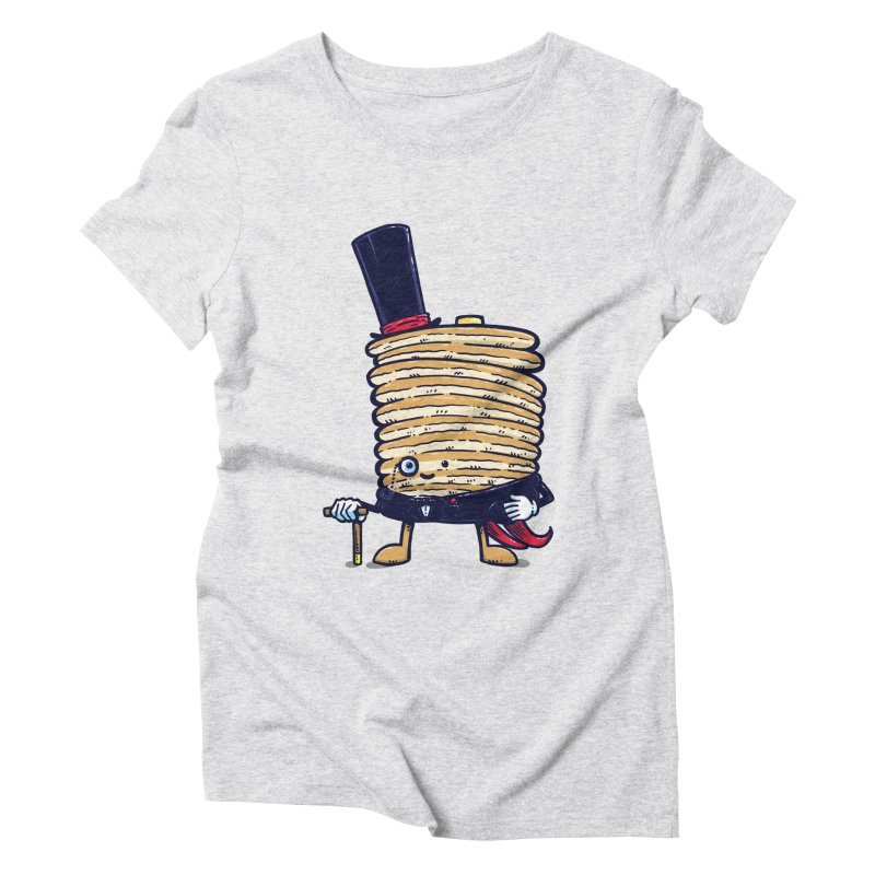 Fancy Captain Pancake Women's Triblend T-Shirt by nickv47