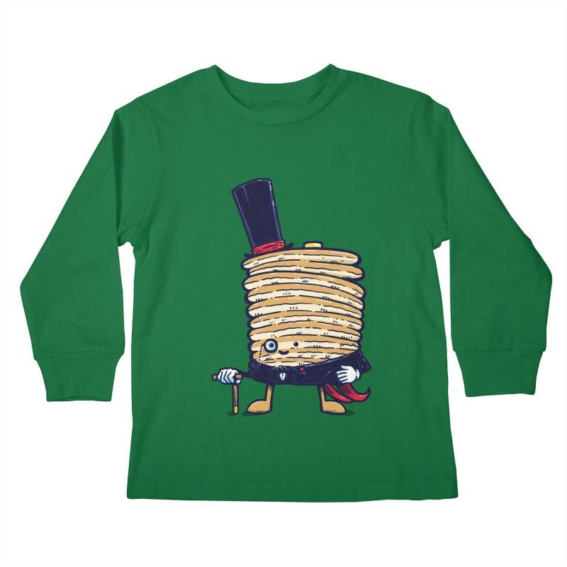 Fancy Captain Pancake Kids Longsleeve T-Shirt by nickv47