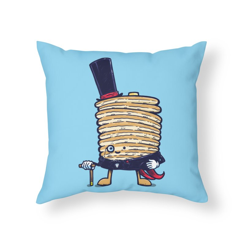 Fancy Captain Pancake Home Throw Pillow by nickv47