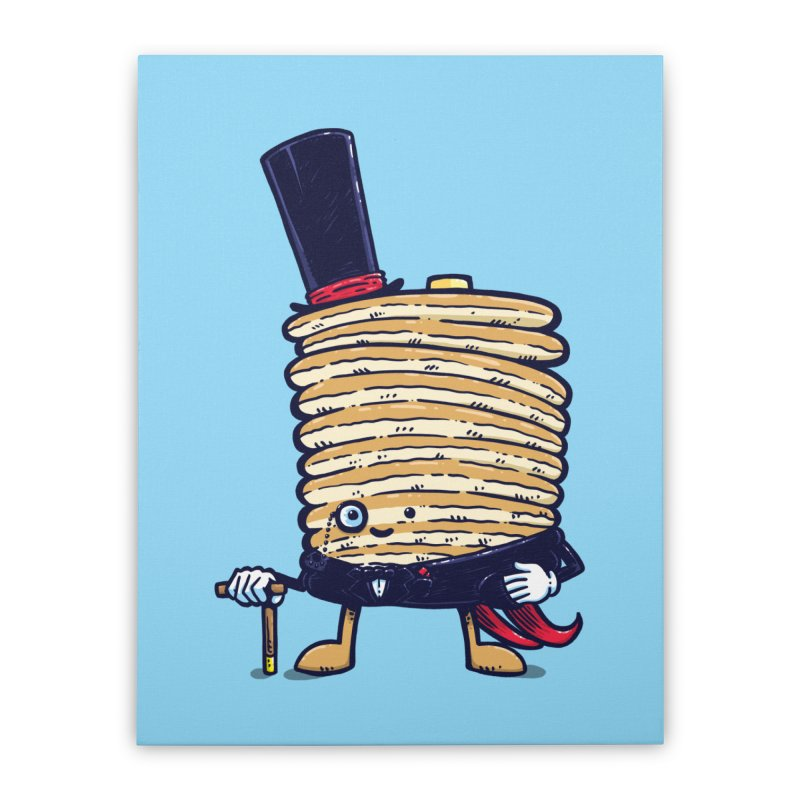 Fancy Captain Pancake Home Stretched Canvas by nickv47