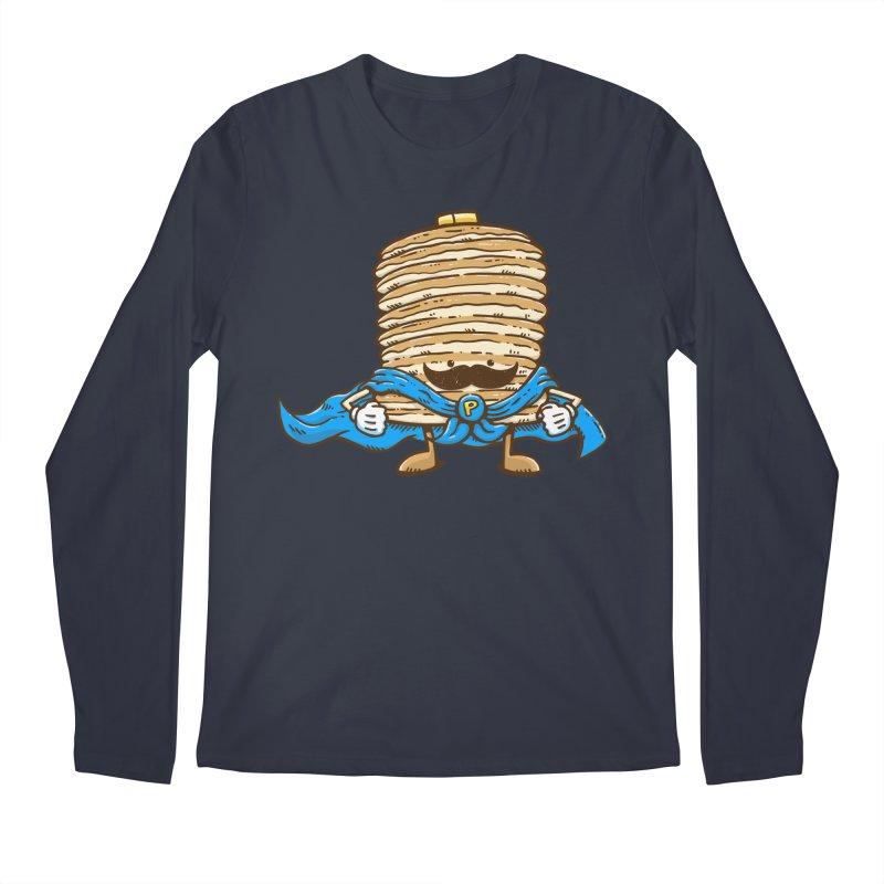 Captain Pancake's Mustache Men's Longsleeve T-Shirt by nickv47
