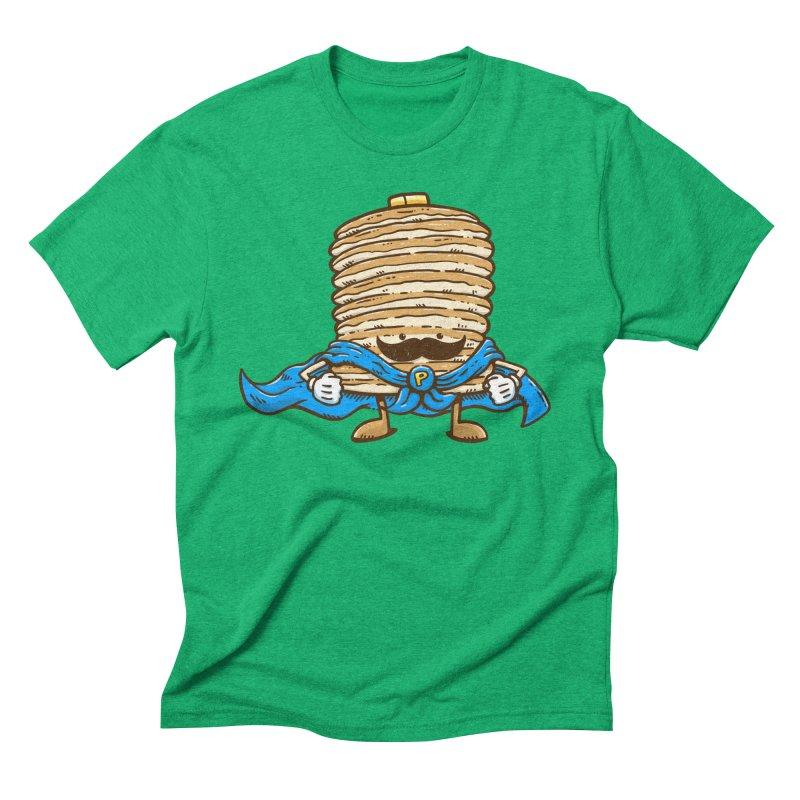 Captain Pancake's Mustache Men's Triblend T-Shirt by nickv47
