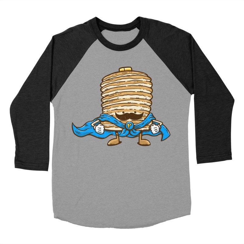 Captain Pancake's Mustache Women's Baseball Triblend T-Shirt by nickv47