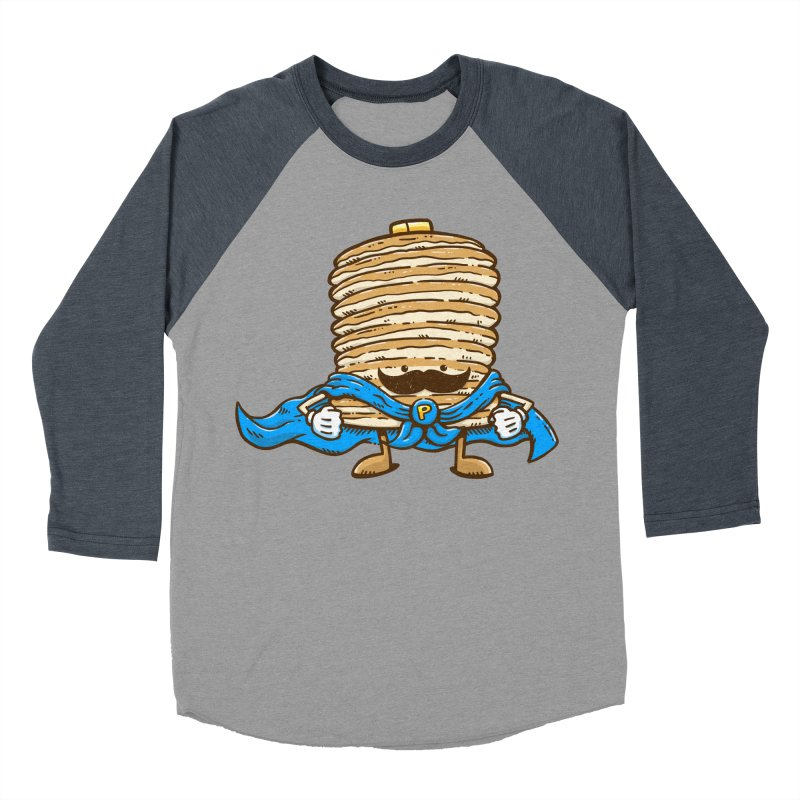 Captain Pancake's Mustache Men's Baseball Triblend T-Shirt by nickv47