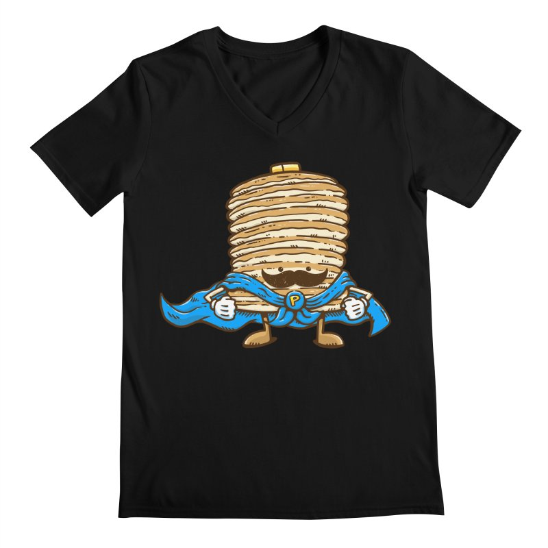 Captain Pancake's Mustache Men's V-Neck by nickv47