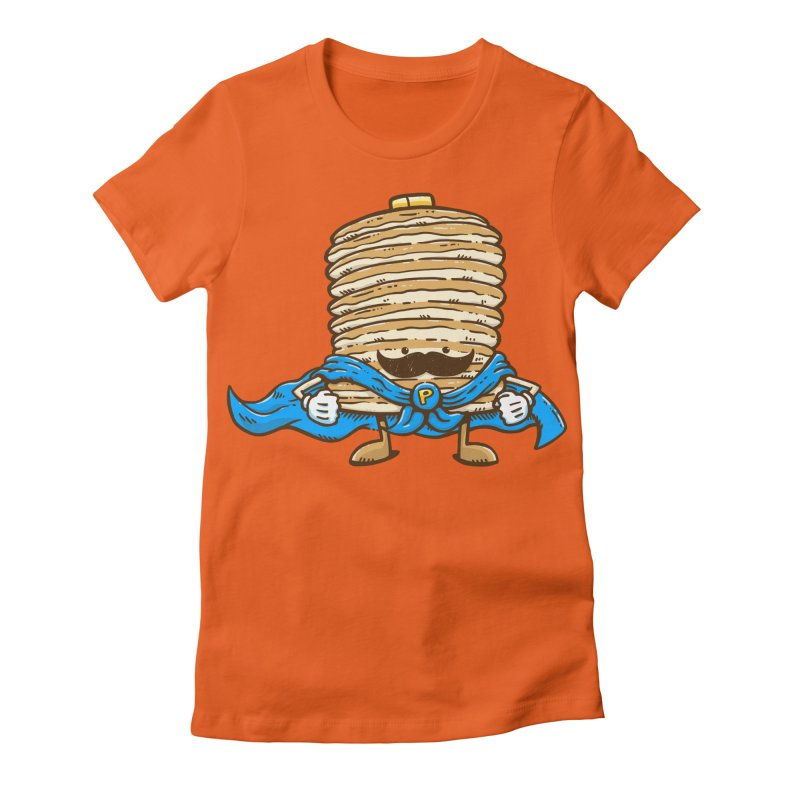 Captain Pancake's Mustache Women's Fitted T-Shirt by nickv47