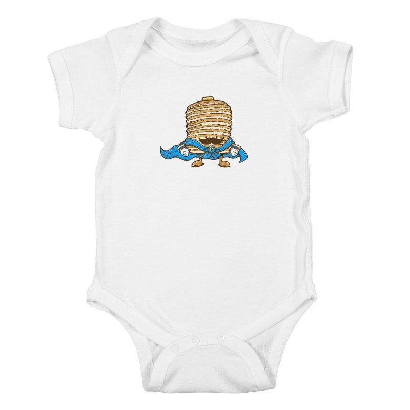 Captain Pancake's Mustache Kids Baby Bodysuit by nickv47