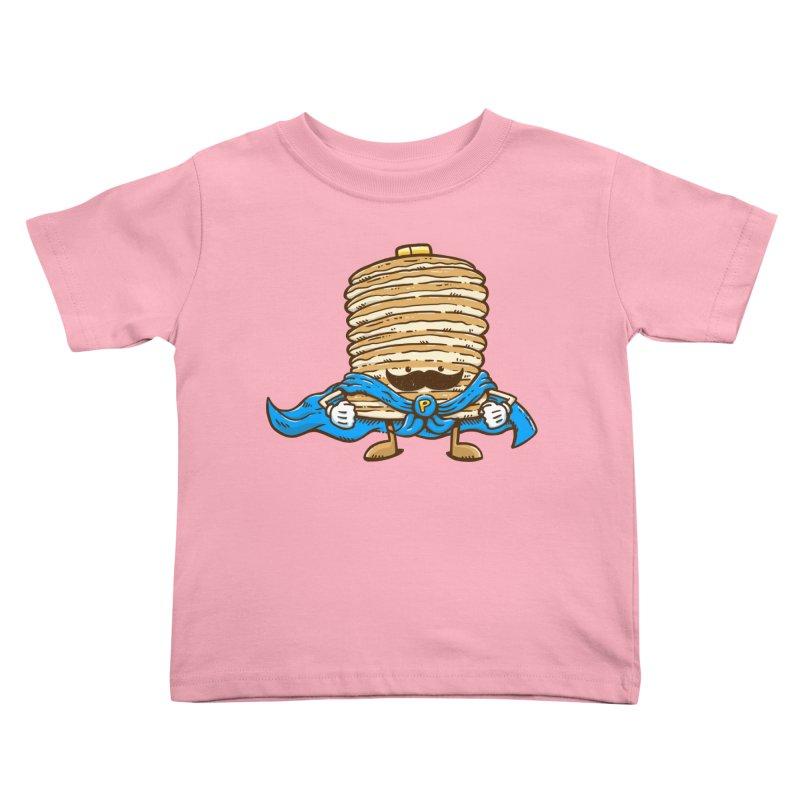 Captain Pancake's Mustache Kids Toddler T-Shirt by nickv47