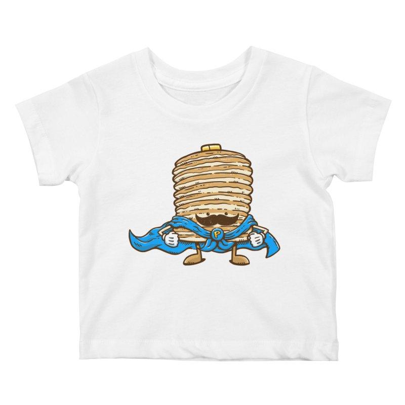 Captain Pancake's Mustache Kids Baby T-Shirt by nickv47