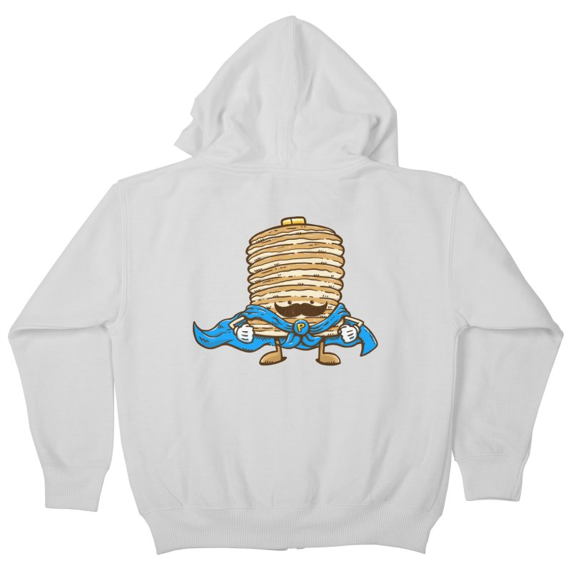 Captain Pancake's Mustache Kids Zip-Up Hoody by nickv47