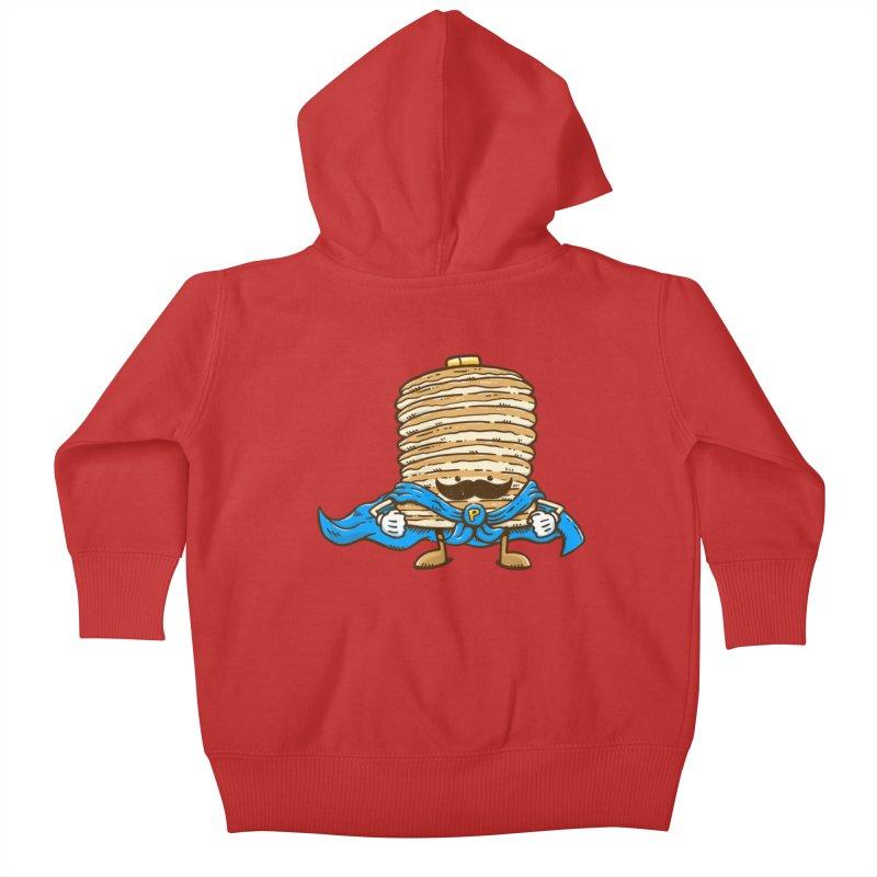 Captain Pancake's Mustache Kids Baby Zip-Up Hoody by nickv47