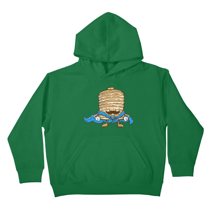Captain Pancake's Mustache Kids Pullover Hoody by nickv47