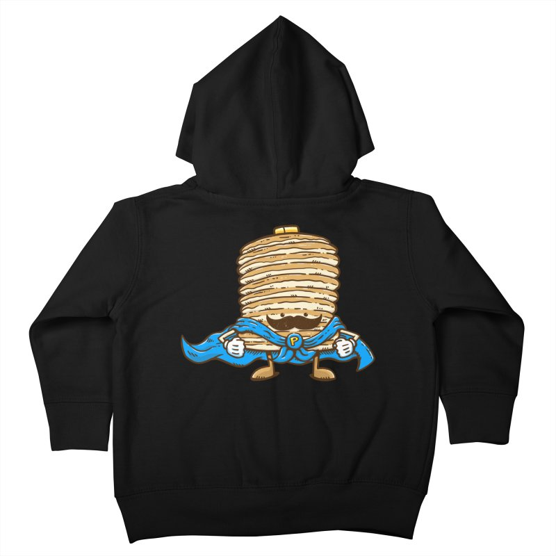 Captain Pancake's Mustache Kids Toddler Zip-Up Hoody by nickv47