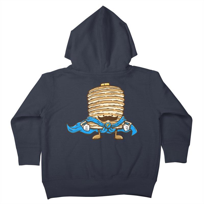 Captain Pancake's Mustache Kids Toddler Zip-Up Hoody by nickv47