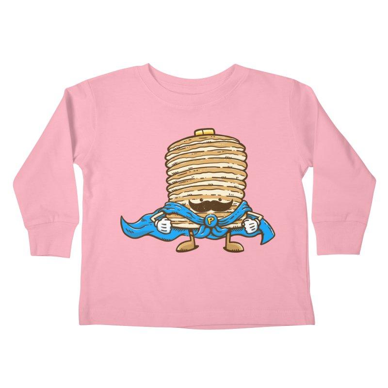 Captain Pancake's Mustache Kids Toddler Longsleeve T-Shirt by nickv47