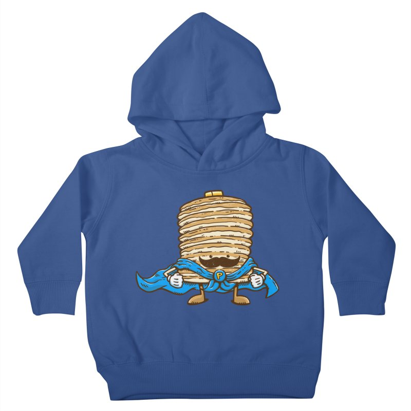 Captain Pancake's Mustache Kids Toddler Pullover Hoody by nickv47