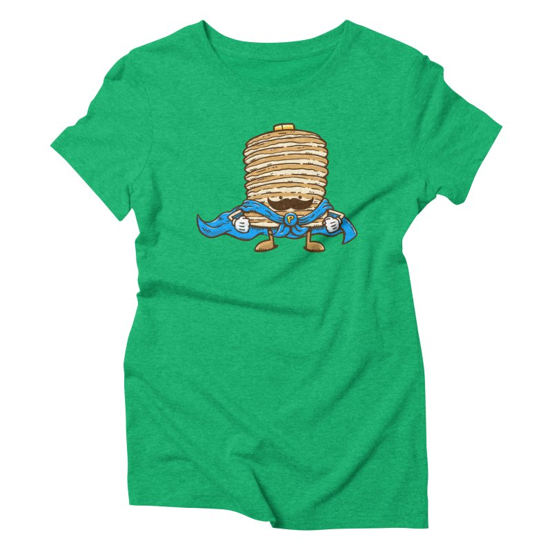 Captain Pancake's Mustache Women's Triblend T-Shirt by nickv47