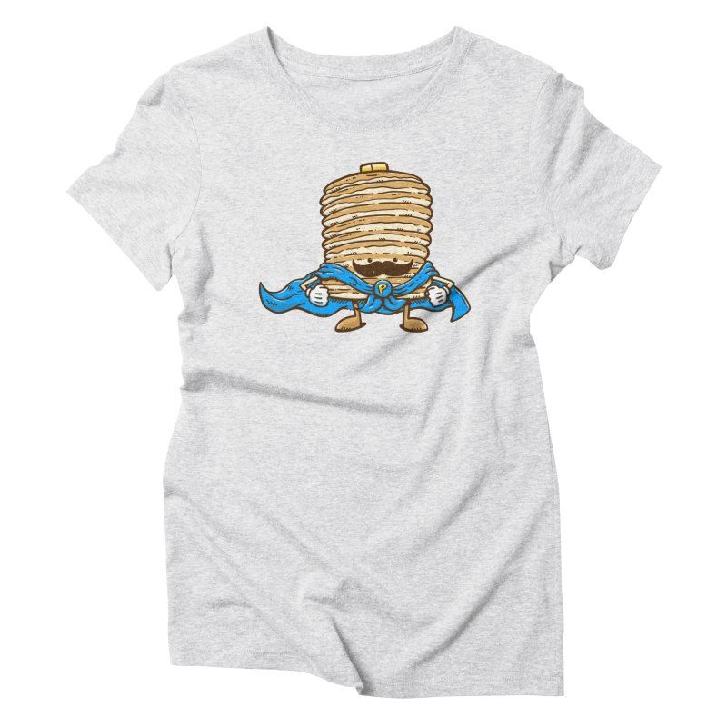 Captain Pancake's Mustache Women's Triblend T-Shirt by nickv47