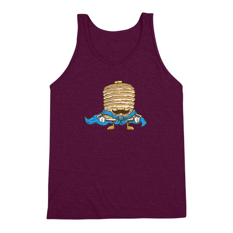 Captain Pancake's Mustache Men's Triblend Tank by nickv47