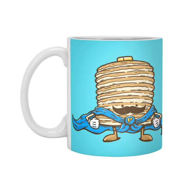 Captain Pancake's Mustache Accessories Mug by nickv47