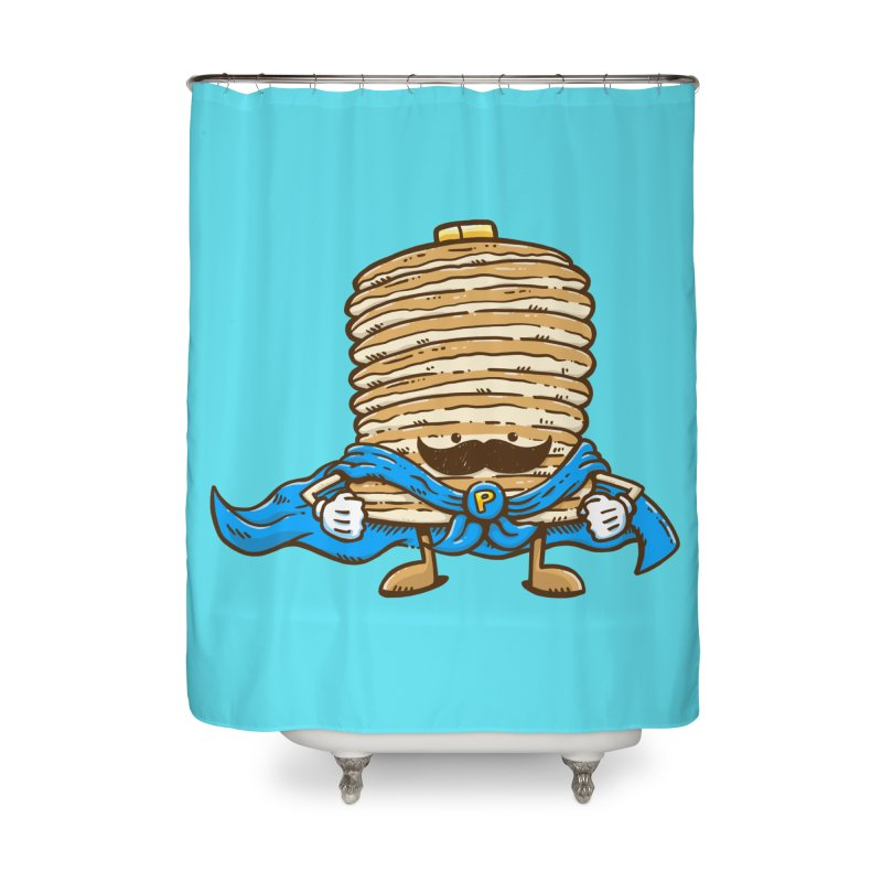 Captain Pancake's Mustache Home Shower Curtain by nickv47