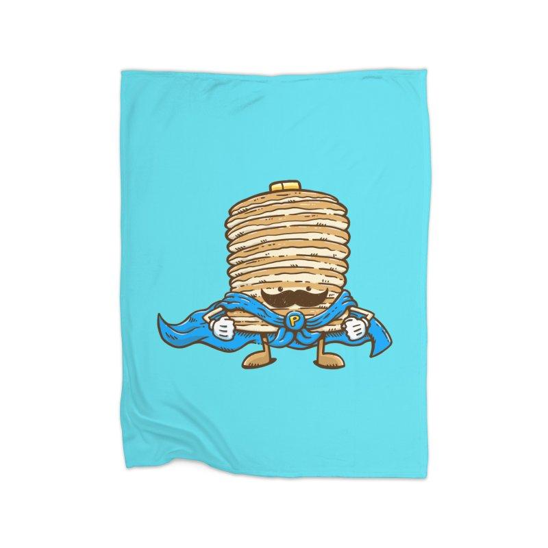 Captain Pancake's Mustache Home Fleece Blanket by nickv47