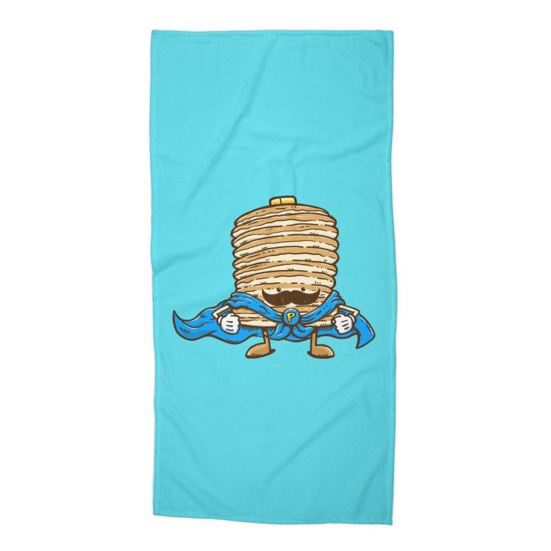 Captain Pancake's Mustache Accessories Beach Towel by nickv47