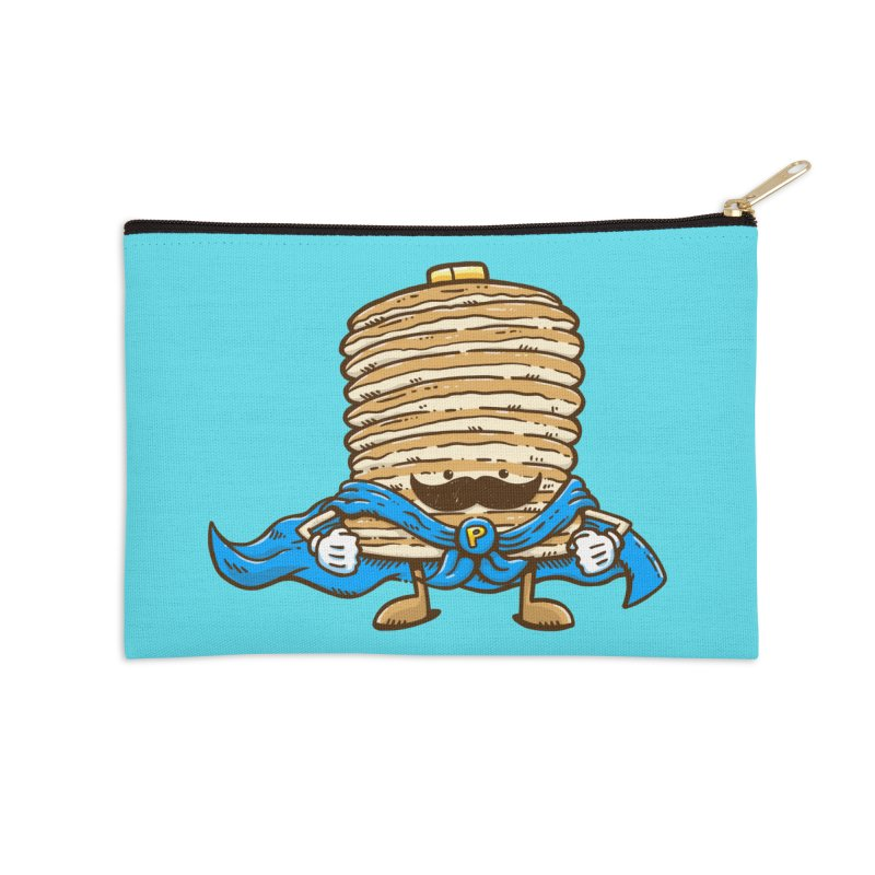 Captain Pancake's Mustache Accessories Zip Pouch by nickv47