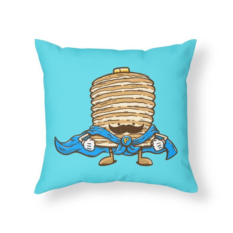 Captain Pancake's Mustache Home Throw Pillow by nickv47