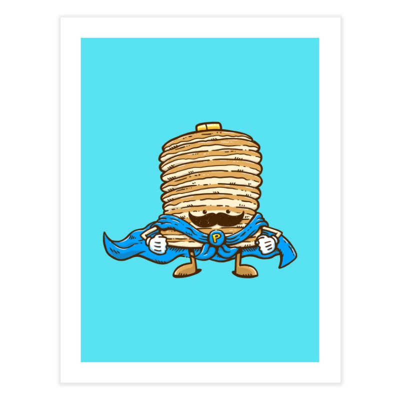 Captain Pancake's Mustache Home Fine Art Print by nickv47