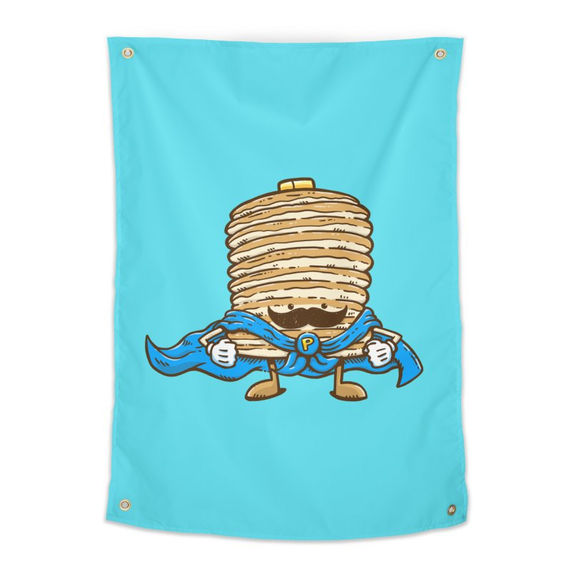 Captain Pancake's Mustache Home Tapestry by nickv47