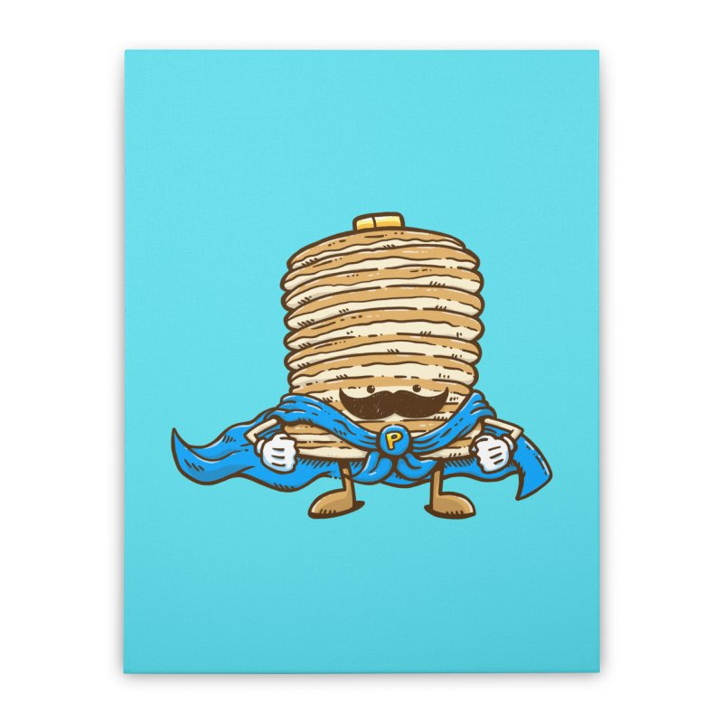 Captain Pancake's Mustache Home Stretched Canvas by nickv47