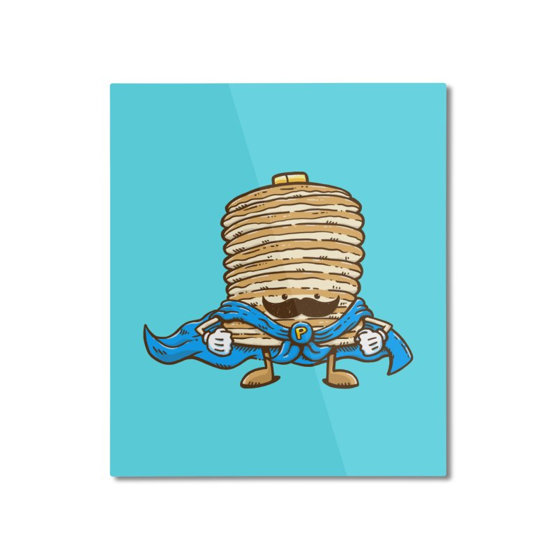 Captain Pancake's Mustache Home Mounted Aluminum Print by nickv47