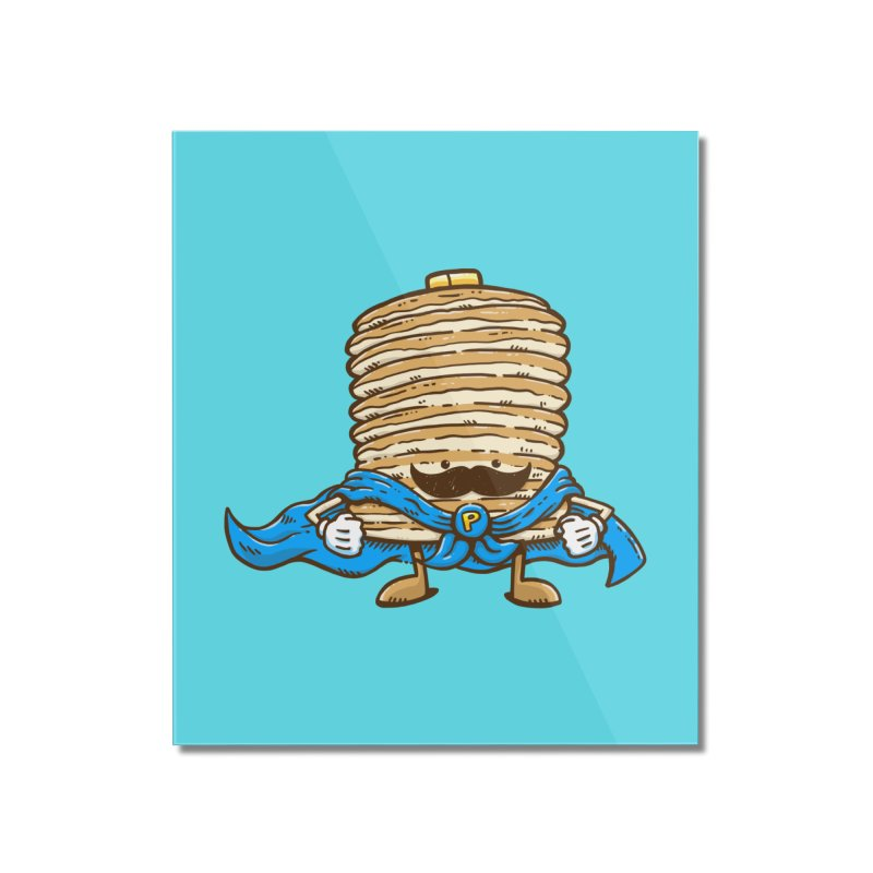 Captain Pancake's Mustache Home Mounted Acrylic Print by nickv47