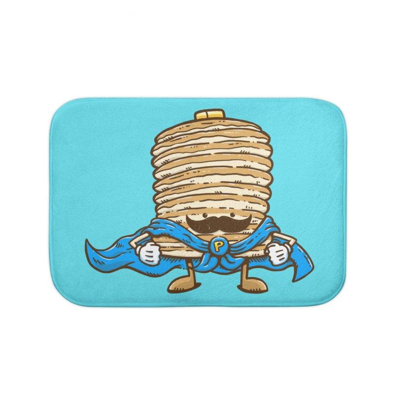 Captain Pancake's Mustache Home Bath Mat by nickv47