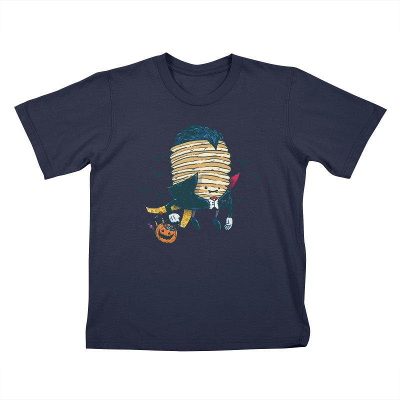 Spooky Pancake Kids T-Shirt by nickv47