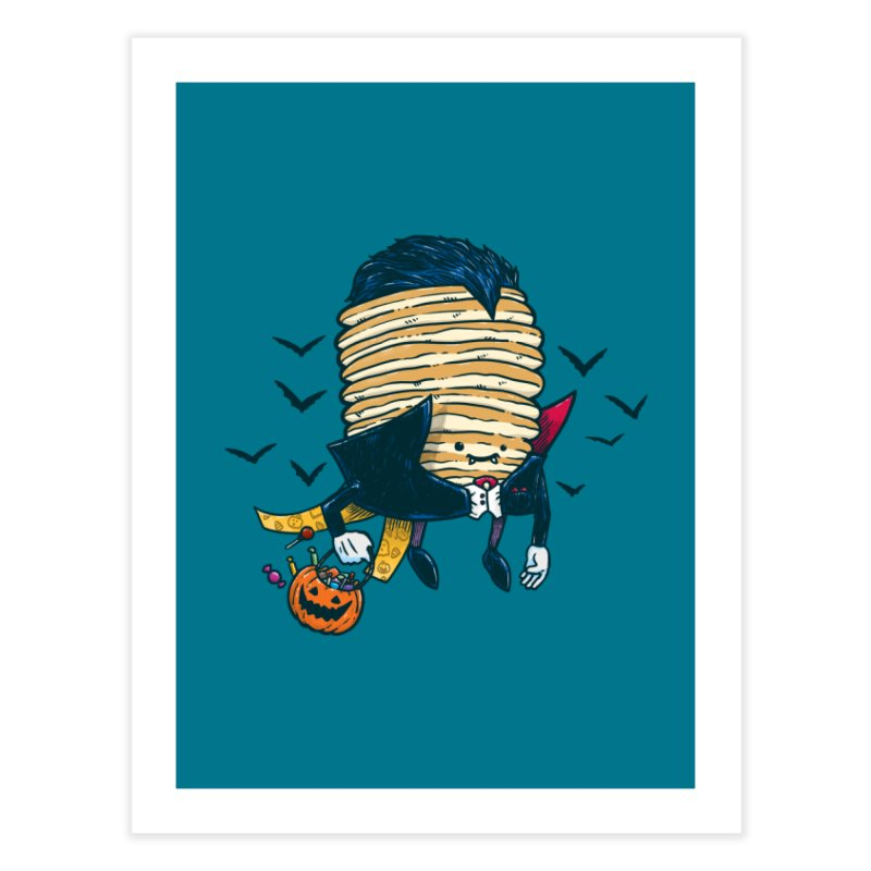 Spooky Pancake Home Fine Art Print by nickv47