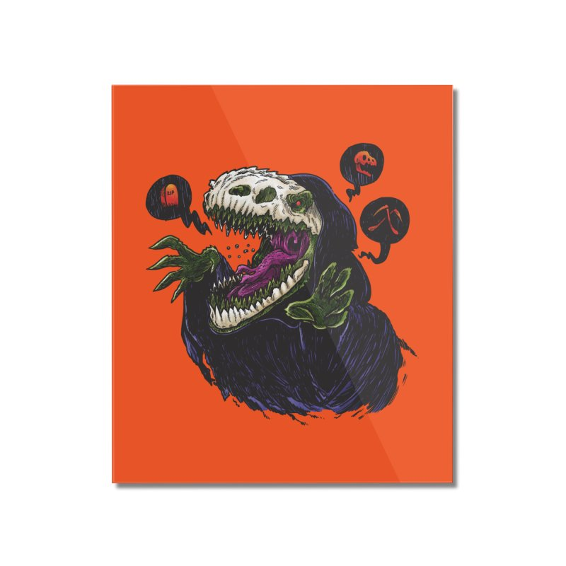 Grim Reapersaur Home Mounted Acrylic Print by nickv47