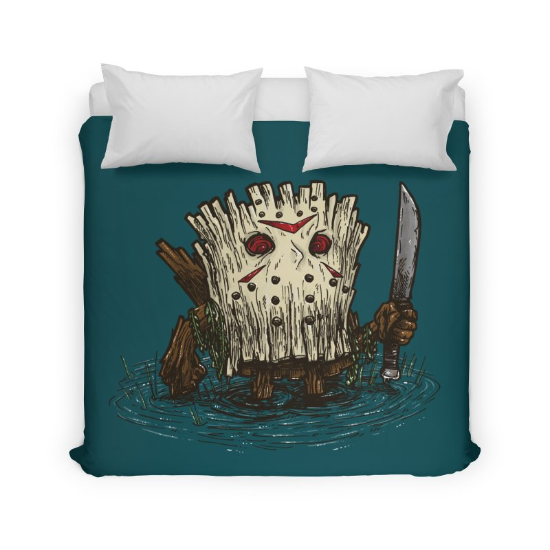 Camp Crystal Lake Log Home Duvet by nickv47