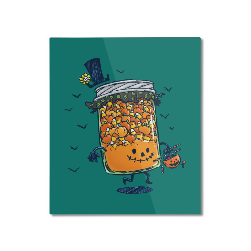 Halloween Jam Home Mounted Aluminum Print by nickv47