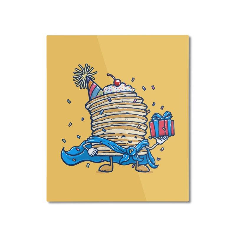 Captain Birthday Pancake Home Mounted Aluminum Print by nickv47