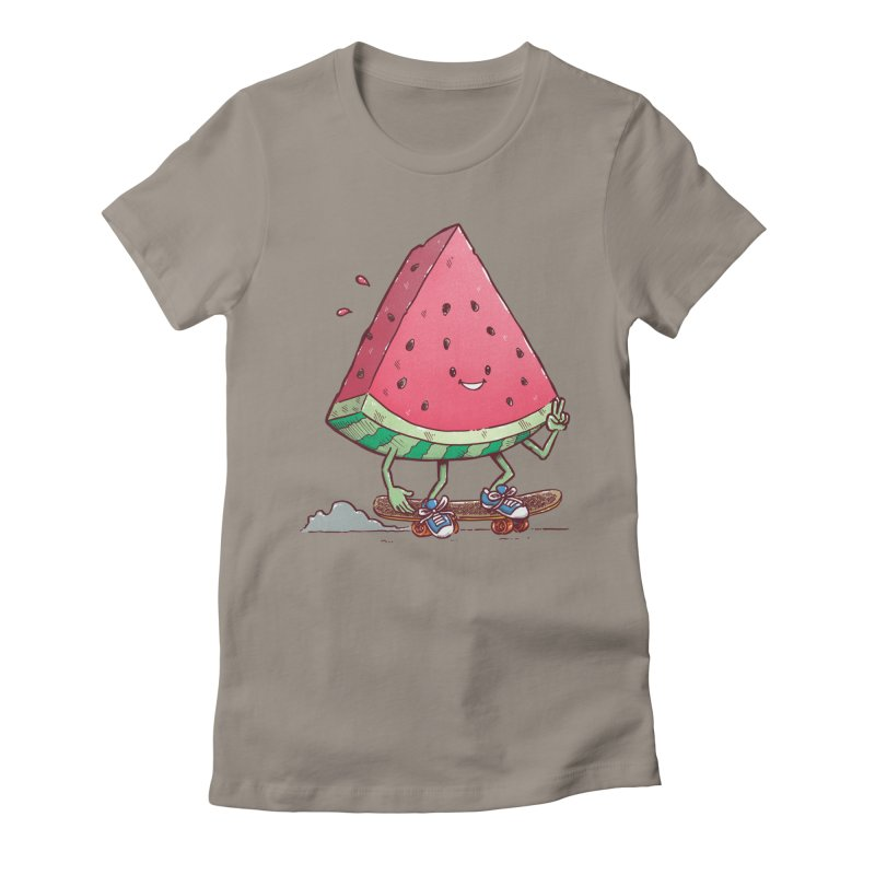 Watermelon Slice Skater Women's Fitted T-Shirt by nickv47