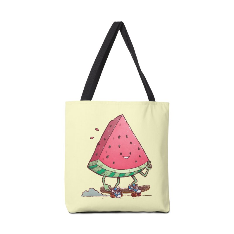 Watermelon Slice Skater Accessories Tote Bag Bag by nickv47
