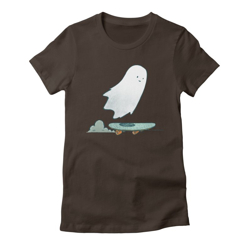 The Ghost Skater Women's Fitted T-Shirt by nickv47