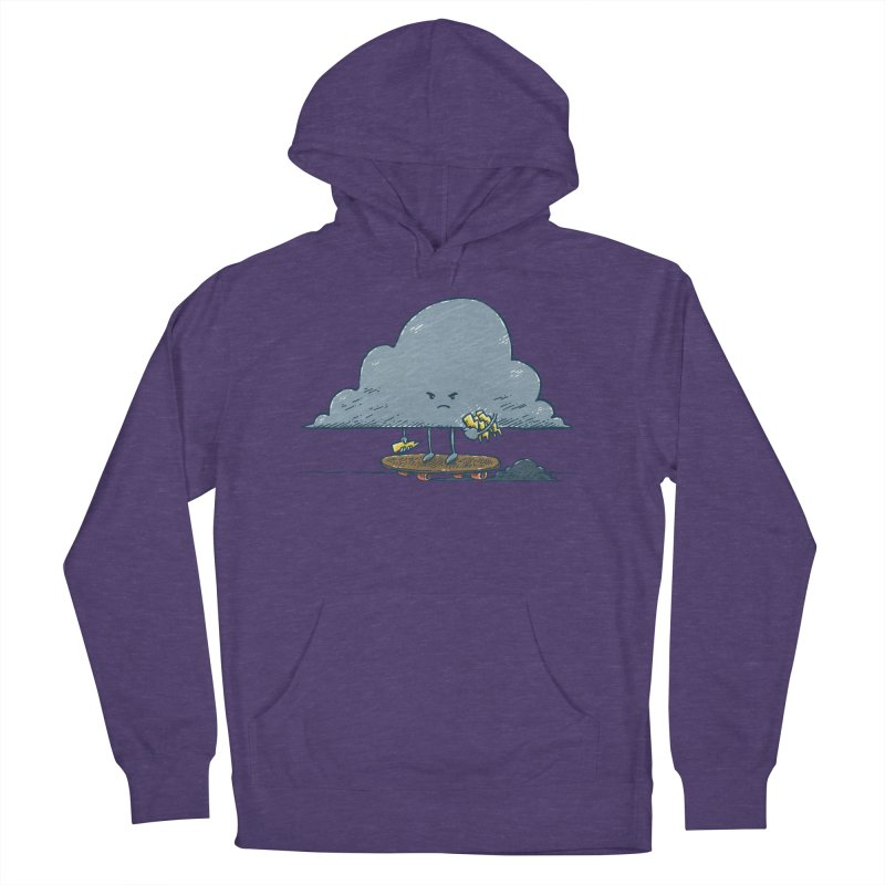 Thunder Cloud Skater Women's French Terry Pullover Hoody by nickv47