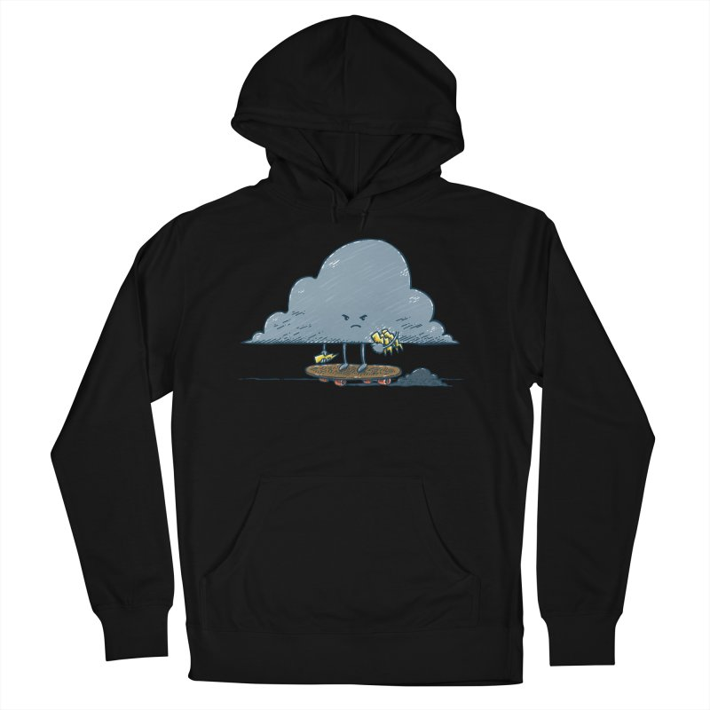 Thunder Cloud Skater Men's French Terry Pullover Hoody by nickv47