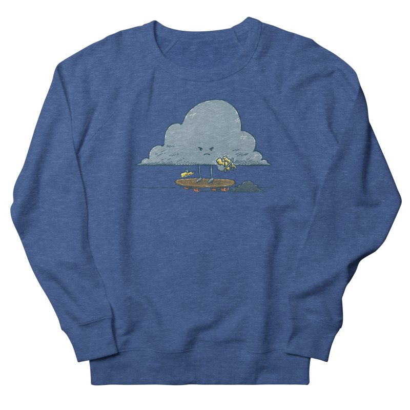 Thunder Cloud Skater Women's French Terry Sweatshirt by nickv47