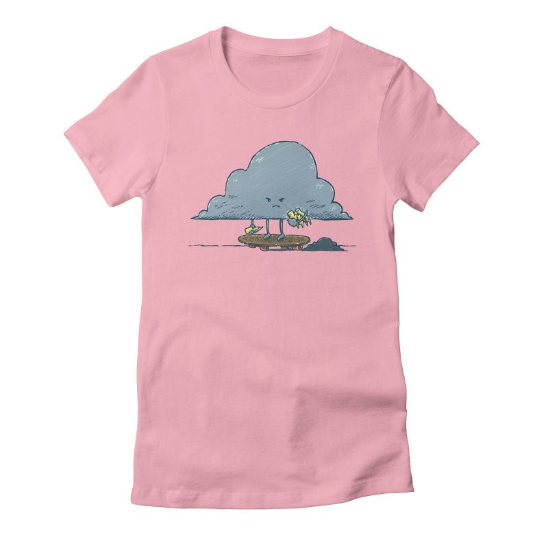 Thunder Cloud Skater Women's Fitted T-Shirt by nickv47