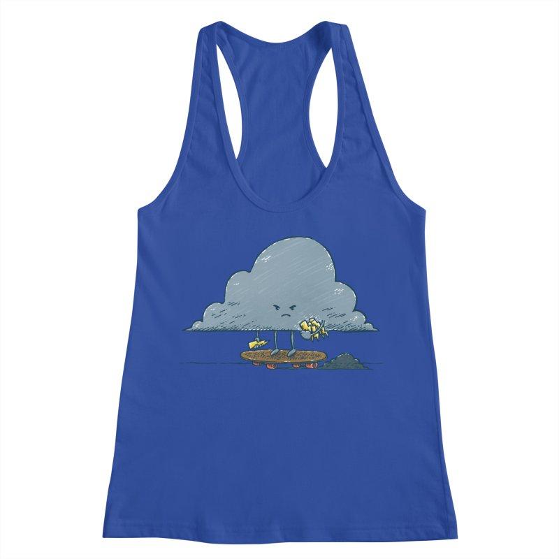 Thunder Cloud Skater Women's Racerback Tank by nickv47