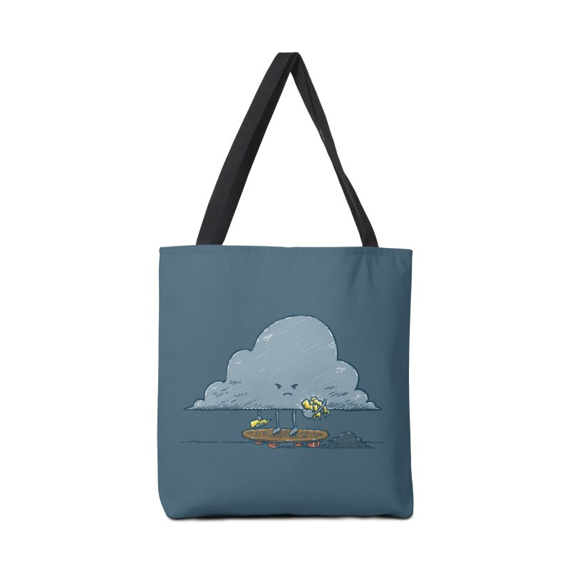 Thunder Cloud Skater Accessories Tote Bag Bag by nickv47